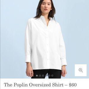 Everlane Oversized Poplin Shirt